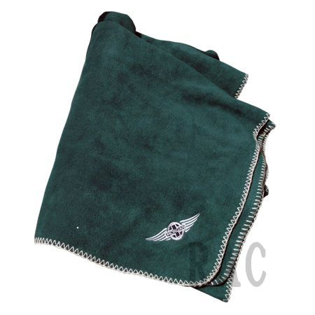 Polar Fleece Blanket with Morgan Wings Logo