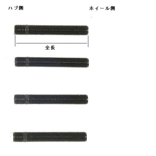 SPARCO/スタッドボルトセット M12xP1.25(長さ:100mm)